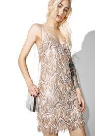glamorous zelda fringe mini dress dolls kill