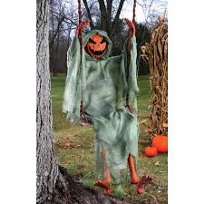 halloween pumpkins hanging on tree stock photo agaes8080 55780577