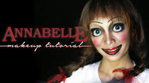 ventriloquist doll halloween costume annabelle doll makeup tutorial halloween series youtube
