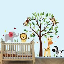 jungle tree wall decals and jungle wall murals for nursery u0026 kids