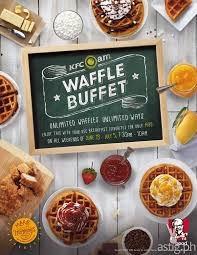 kfc breakfast buffet is back with unlimited waffles p199 astig ph