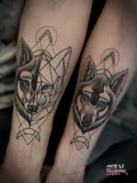 wolf tattoo couples by nsanenl on deviantart