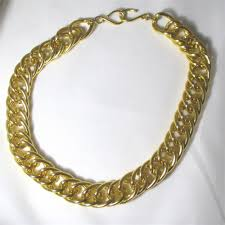 trendy gold chain necklace images Big chunky statement gold chain necklace unisex gold chain jpg