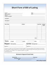 Bill Of Lading Template Excel 40 Free Bill Of Lading Forms Templates Template Lab