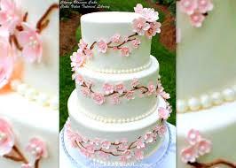 cherry blossom cake video tutorial by my cake my cake