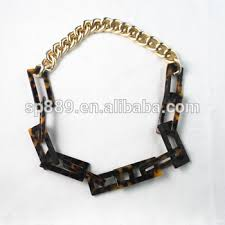 colored chain link necklace images Hot selling necklace acetate jewelry tortoise color link necklace jpg