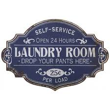 Laundry Room Decor Signs Distressed Metal Laundry Room Sign A Cottage In The City