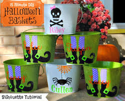 15 minute customized halloween buckets on the cheap silhouette