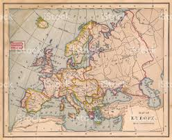 World Map 1800 by Old Color Map Of Europe From 1800s Stock Photo 471386803 Istock