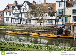 tudor style house in canterbury on river stour editorial photo