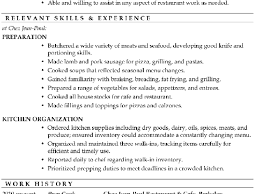 Resume Sample For Cook Position Sample Line Cook Resume 89 Surprising What To Write In A Resume
