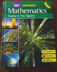 holt mathematics course 2 pre algebra 7th grade 7 math selected