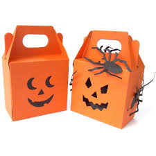 halloween pumpkin bag halloween pumpkin sweetie box with double face ghoulish orange