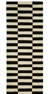 Black White Runner Rug Black And White Gothenburg Hall Runner Rug 80 X 200 Matt Blatt