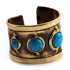 cuff bracelet with stones images Asymmetrical turquoise stone wide cuff needs a bracelet jpg