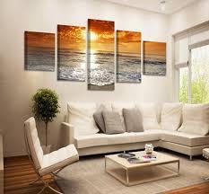 sea home decor 5pcs divided modern home decor canvas print painting wall art sea