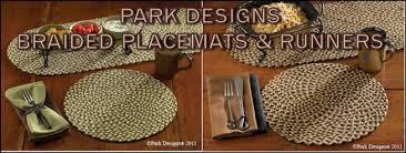 park designs braided placemats and table runners
