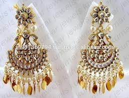 fabulous earrings fabulous kundan earrings buy indian kundan earrings pipal patti