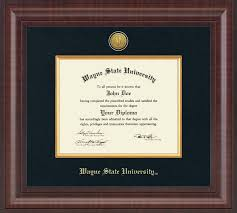 degree frames wayne state diploma frames church hill classics