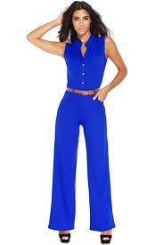 royal blue jumpsuit arrival royal blue belted wide leg jumpsuit