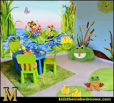 Frog Nursery Decor Frog Pond Wall Decals Summer Set Wall Decals Frog Theme Bedrooms