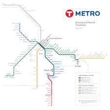 Valley Metro Rail Map by 100 Msp Map Msp Airport Developments Skyscrapercity Large