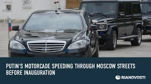 putin u0027s motorcade speeding through moscow streets before