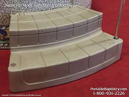 baptism pools portable grand entry steps church baptistry baptistery heaters