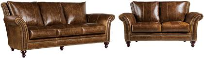 georgetowne butler brown leather living room set from luxe leather
