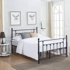 Metal Bed Frame Headboard Bed Frames For Less Overstock