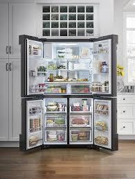 Samsung Cabinet Depth Refrigerator Doors Astounding Samsung Fridge French Door Samsung Smart