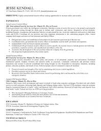 Sample Resume For Supervisor by Security Officer Resume Objective