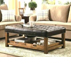 large leather tufted ottoman square tufted ottoman coffee table square leather tufted ottoman