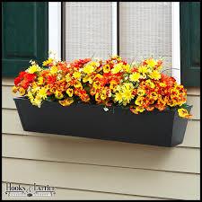 Black Planter Boxes black window boxes galvanized metal planter box hooks and lattice