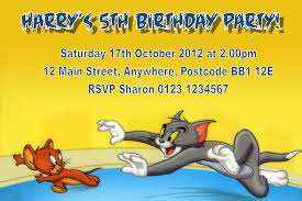Personalised Birthday Invitation Cards Personalised Tom And Jerry Invitations