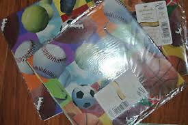 soccer wrapping paper hallmark wrapping paper lot of 3 all sports gift wrap football