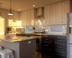 captivating two tone kitchen cabinets features white grey colors
