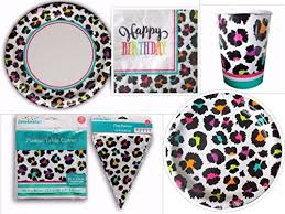 cheetah print party supplies find cheapest price for rainbow cheetah animal print deluxe party