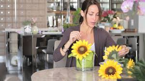 how to decorate a table with sunflowers setting the table with