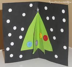 navidad tarjeta con pino 3d christmas card kids craft