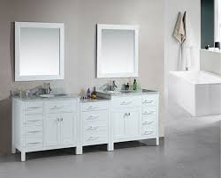 90 inch modern double bathroom vanity with choice of counter top