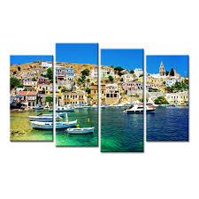 aliexpress com buy 4 pieces dropshipping coastal city canvas
