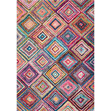 Nuloom Rug Reviews Nuloom Jenise Squares Multi 9 Ft X 12 Ft Area Rug Eccr05a 9012
