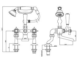 heritage dawlish bath shower mixer tap chrome