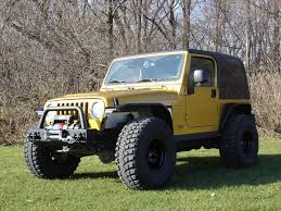 lj jeep lifted pic request jeep tj with 31s no lift and tube fenders