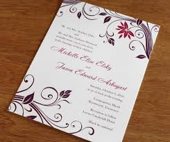 make your own invitations designs wedding invitations rectangle potrait white purple