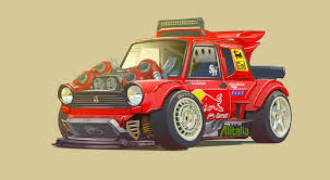 drift cars drawings cars as characters the art of damon moran speedhunters