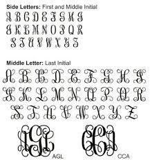 initial monograms monogram letters pinteres