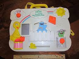 vintage fisher price busy box board activity center baby toy crib