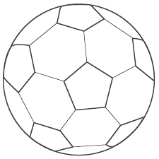 print coloring image soccer ball facebook and craft